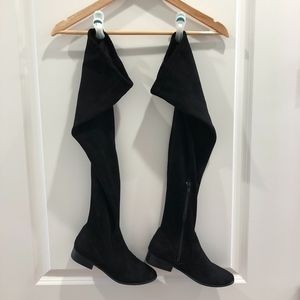 Report • Over the Knee Black Flat Boots Size 6